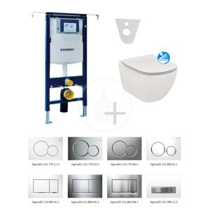 GEBERIT - Duofix Súprava na závesné WC + klozet a sedadlo softclose Ideal Standard Tesi – súprava s tlačidlom Sigma01, biele (111.355.00.5 NE1)