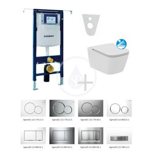 GEBERIT - Duofix Súprava na závesné WC + klozet a sedadlo softclose Ideal Standard Mia – súprava s tlačidlom Sigma01, chróm (111.355.00.5 NG2)