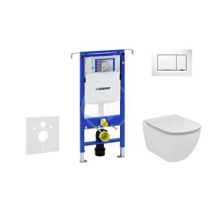 GEBERIT - Duofix Set předstěnové instalace, klozetu a sedátka Ideal Standard, tlačítka Sigma30, Aquablade, SoftClose, bílá/chrom (111.355.00.5 NU5)
