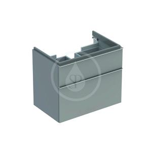 GEBERIT - iCon Skrinka pod umývadlo, 595x620x477 mm, platinová lesklá (840362000)