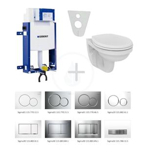 GEBERIT - Kombifix Súprava na závesné WC + klozet a sedadlo Ideal Standard Quarzo – súprava s tlačidlom Sigma20, biela/lesklý chróm/biela (110.302.00.5 NR4)