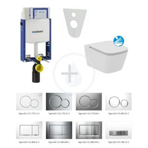 GEBERIT - Kombifix Súprava na závesné WC + klozet a sedadlo softclose Ideal Standard Mia – súprava s tlačidlom Sigma30, matný/lesklý/matný chróm (110.302.00.5 NG7)