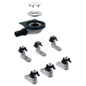 GEBERIT - Setaplano Súprava na hrubú montáž k sprchovej vaničke, výška vodného uzáveru 30 mm, d40 mm, 6 nôh (154.021.00.1)