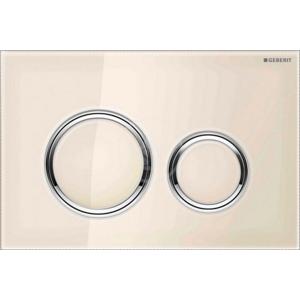 GEBERIT - Sigma21 Ovládací tlačítko splachování, sklo pískové/lesklý chrom (115.884.TG.1)