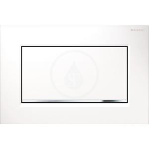 GEBERIT - Sigma30 Ovládacie tlačidlo Sigma30, splachovanie Start/Stop, biela/chróm (115.893.KJ.1)