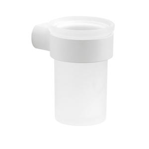 Gedy - PIRENEI sklenka, bílá matná/sklo satin (PI1002)