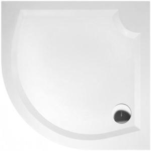 GELCO - LAURA80 sprchová vanička z liateho mramoru, štvrťkruh 80x80x4cm, R500 (GL508)