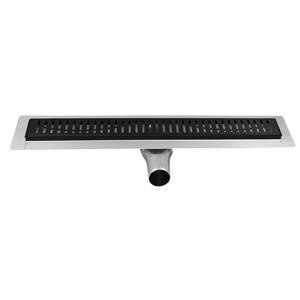 GELCO - MANUS BLACK nerezový sprchový kanálek s roštem ONDA, 950x130x55mm (GMO15B)