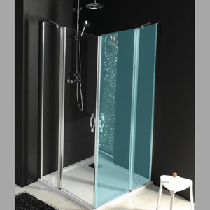 GELCO - ONE sprchové dvere s pevnou časťou 900 mm, číre sklo (GO4890)