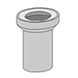GLYNWED - WC připoj.kus bílý 15cm ABU (58201010000) 58201010000 (58201010011)