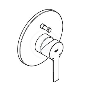 GROHE - Lineare Páková vaňová batéria, supersteel (19297DC1)
