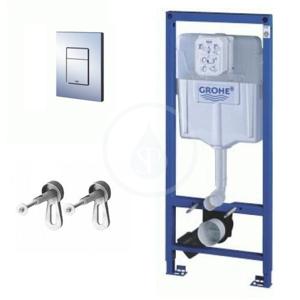 GROHE - Rapid SL Predstenová inštalačná súprava na závesné WC, výška 1,13 m, ovládacie tlačidlo Skate Cosmopolitan, chróm (38772001)