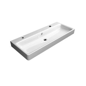 GSI - SAND keramické umývadlo 120x50 cm, 2 otvory, ExtraGlaze (9024211)