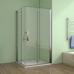 H K - Obdélníkový sprchový kout MELODY R108, 100x80 cm se zalamovacími dveřmi (SE-MELODYR108)