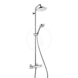 HANSGROHE HANSGROHE - Croma 220 Sprchový set Showerpipe s termostatem, 220 mm, 1 proud, chrom (27185000)