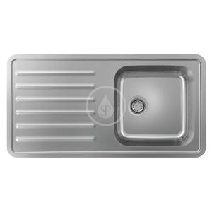 HANSGROHE HANSGROHE - Dřezy Vestavný dřez S4111-F400 s odkapávací plochou, nerezová ocel (43341800)
