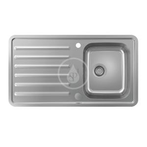 HANSGROHE HANSGROHE - Dřezy Vestavný dřez S4113-F340 s odkapávací plochou a automatickým odtokem, nerezová ocel (43337800)