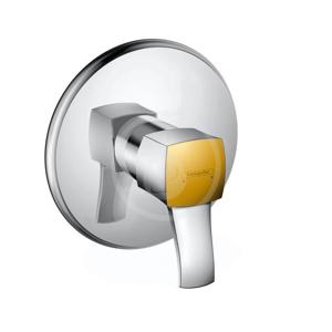 HANSGROHE - Metropol Classic Páková sprchová batéria pod omietku s páčkovou rukoväťou, chróm/vzhľad zlata (31365090)