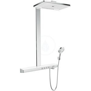 HANSGROHE HANSGROHE - Rainmaker Select Sprchový set Showerpipe 460 s termostatem, 3 proudy, EcoSmart 9 l/min, bílá/chrom (27029400)
