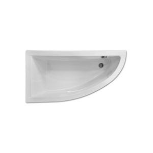 HOPA - Asymetrická vana FONDI - 1400 × 700 mm, objem 132 l, Pravé, bez panelu (OLVFON14P+OLVPINOZ)