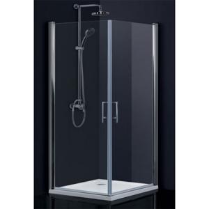 HOPA - Obdélníkový a čtvercový sprchový kout SINTRA - 195 cm, 85 cm × 90 cm, Univerzální, Hliník chrom, Frost bezpečnostní sklo - 6 mm (BCMADE285CFL+BCMADE290CFP)
