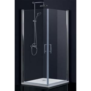 HOPA - Obdélníkový a čtvercový sprchový kout SINTRA - Hliník chrom, 195 cm, 95 cm × 90 cm, Univerzální, Čiré bezpečnostní sklo - 6 mm (BCMADE295CC+BCMADE290CC)