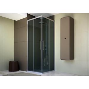 Obdélníkový a čtvercový sprchový kout HOPA URBAN ESSENCE A1FS - 200 cm, Pravé (DX), Ossidato - matný hliník, Čiré bezpečnostní sklo - 6 mm, 77,5 - 80 x 200 (v) cm (BEA12DXA1)