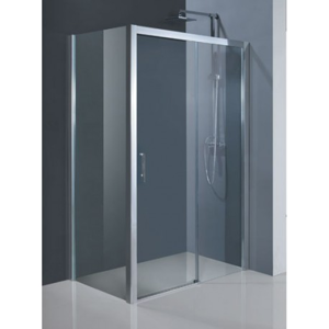 HOPA - Obdélníkový sprchový kout ESTRELA KOMBI - 195 cm, 130 cm × 90 cm, Pravé (DX), Hliník chrom, Čiré bezpečnostní sklo - 6 mm (BCESTR13CCP+BCESTR90PSCC)