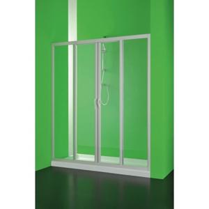 HOPA - Sprchové dveře Maestro centrale - 140 - 150 cm, 185 cm, Univerzální, Plast bílý, Čiré bezpečnostní sklo - 3 mm (BSMAC15S)