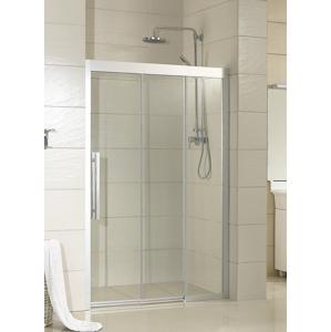 HOPA - Sprchové dveře MARTOS - 110 cm, 195 cm, Levé (SX), Leštěný hliník, Čiré bezpečnostní sklo - 8 mm (BCMAR11CCL)