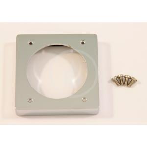 IDEAL STANDARD - Archimodule Dištančný rámik na 1-otvorovú rozetu (83 mm x 83 mm) (10 mm), chróm (A963746AA)