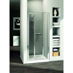 IDEAL STANDARD - Connect Sprchové dvere skladacie 90 cm – číre sklo, silver bright (lesklá strieborná) (T9853EO)