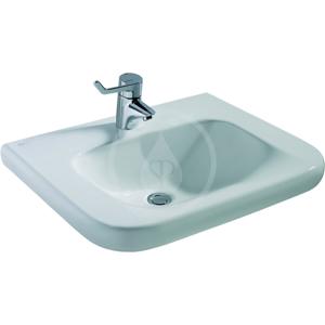 IDEAL STANDARD - Contour 21 Umývadlo pre telesne postihnutých 600 mm x 175 mm x 555 mm (bez prepadového otvoru), biela s Ideal plus (E5123MA)