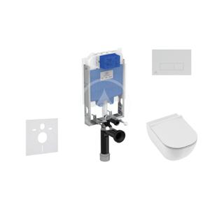 IDEAL STANDARD - ProSys Set předstěnové instalace, klozetu a sedátka Mio, tlačítka Oleas M2, Rimless, Slowclose, Antibak, chrom (ProSys80M SP141)
