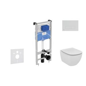 IDEAL STANDARD - ProSys Set predstenovej inštalácie, klozetu a sedadla Tesi, tlačidla Oleas M2, chróm mat (ProSys120M SP14)