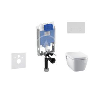 IDEAL STANDARD - ProSys Set předstěnové instalace, sprchovací toalety a sedátka TECEone, tlačítka Oleas M1, Rimless, SoftClose, chrom mat (ProSys80M SP131)