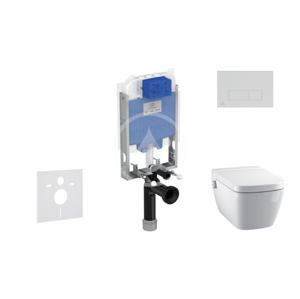 IDEAL STANDARD - ProSys Set předstěnové instalace, sprchovací toalety a sedátka TECEone, tlačítka Oleas M2, Rimless, SoftClose, bílá (ProSys80M SP127)