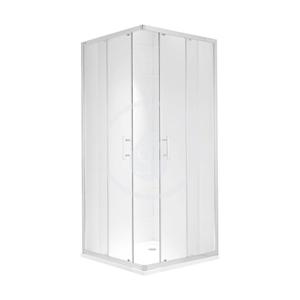 JIKA - Cubito Pure Sprchovací kút 780-795x780-795 mm, strieborná/číre sklo (H2512410026681)