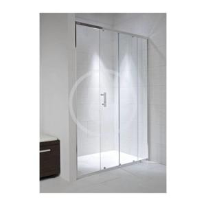JIKA - Cubito Pure Sprchové dvere, 1 posuvný segment, 1 pevný segment, strieborný profil, ľavé/pravé, 1000 mmx30 mmx1950 mm – sklo arctic (H2422430026661)