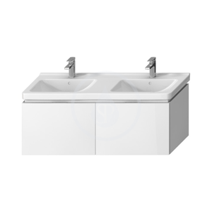 JIKA - Cubito Skrinka pod dvojumývadlo 1280 mm x 480 mm, biela (H40J4274015001)