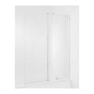 JIKA - Cubito Vaňová zástena 1150 mm, pravá, 2-dielna, sklo transparentné, strieborná lesklá (H2574260026681)