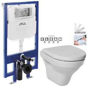 JIKA - předstěnový instalační 8 cm systém bez tlačítka + WC JIKA TIGO + SEDÁTKO DURAPLAST SLOWCLOSE (H894652 X TI2)