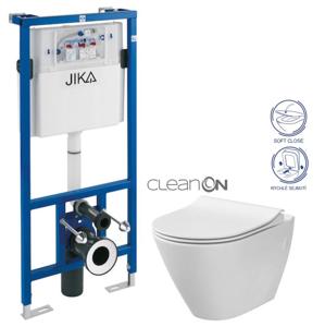 předstěnový instalační systém bez tlačítka + WC CERSANIT CLEANON CITY (H895652 X CI1)