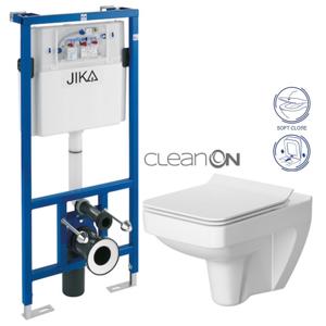 JIKA - předstěnový instalační systém bez tlačítka + WC CERSANIT CLEANON SPLENDOUR + SEDÁTKO (H895652 X SP1)