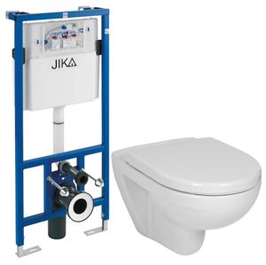 JIKA - předstěnový instalační systém bez tlačítka + WC JIKA LYRA PLUS + SEDÁTKO DURAPLAST (H895652 X LY6)