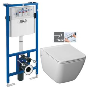 JIKA - předstěnový instalační systém bez tlačítka + WC JIKA PURE + SEDÁTKO DURAPLAST (H895652 X PU1)