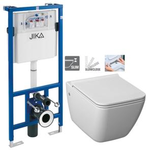 JIKA - předstěnový instalační systém bez tlačítka + WC JIKA PURE + SEDÁTKO SLOWCLOSE (H895652 X PU2)