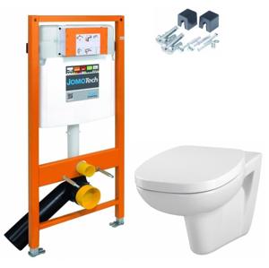 JOMO DUO modul pro závěsné WC bez desky + WC CERSANIT FACILE + SEDÁTKO DURAPLAST (174-91100700-00 FA1)