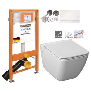 JOMO DUO modul pro závěsné WC s bílou deskou + WC JIKA PURE + SEDÁTKO SLOWCLOSE (174-91100900-00 PU2)