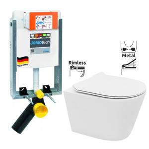 JOMOTech modul pro zazdění LIGHT bez desky + WC REA TOMAS RIMFLESS + SEDÁTKO (164-14600479-00 TO1)